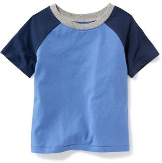 Raglan-Sleeve Color-Block Tee for Toddler Boys $8.94 thestylecure.com