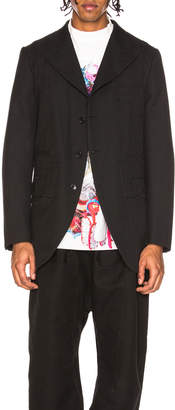 Comme des Garcons Yarn Dyed Wool Jacket