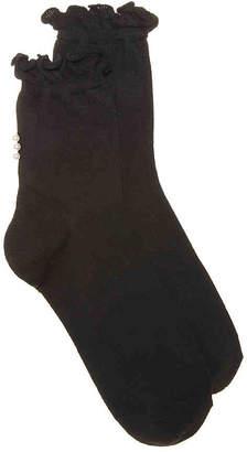 Mix No. 6 Pearl Ruffle Crew Socks - Women's