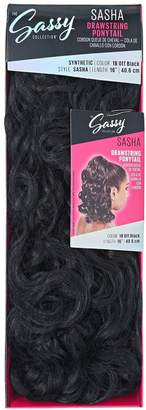 The Sassy Collection Sasha Off Black 16 Inch Drawstring Ponytail
