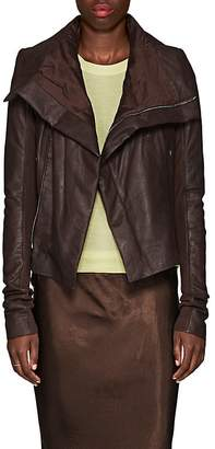 Rick Owens Women's Padded Blistered-Leather Biker Jacket