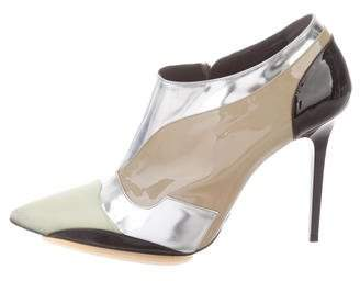 Balenciaga Patent Leather Pointed-Toe Ankle Booties