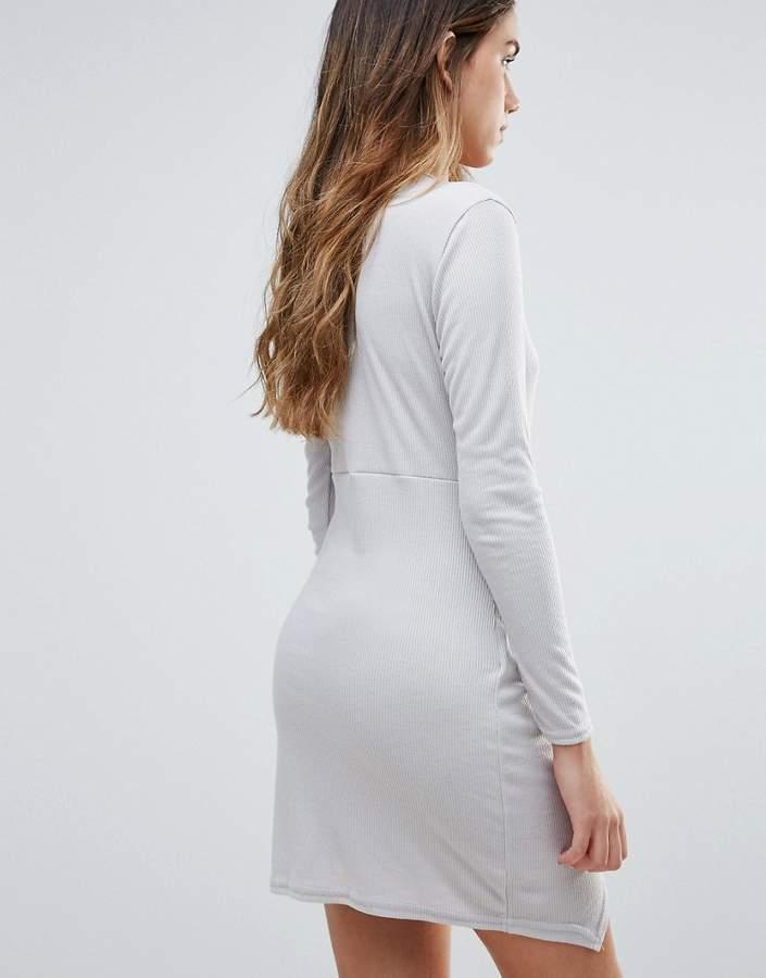 Daisy Street Wrap Front Dress