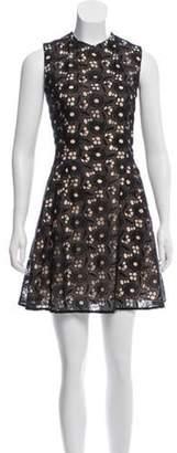 Victoria Beckham Lace A-Line Mini Dress Black Lace A-Line Mini Dress