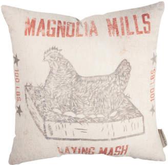 'Magnolia Mills' Feed Sack Linen-Blend Throw Pillow
