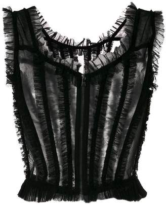 Dolce & Gabbana fringed bustier top