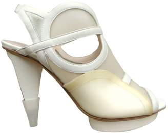 HUGO BOSS White Leather Heels