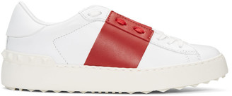 Valentino White & Red Open Sneakers $695 thestylecure.com