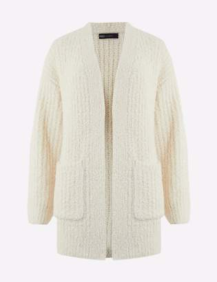 Marks and Spencer Glacier Textured Edge To Edge Cardigan