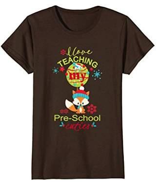 Teachers Shirt Christmas Winter I Love My Pre-School Cuties
