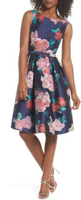 Eliza J Floral Fit & Flare Dress