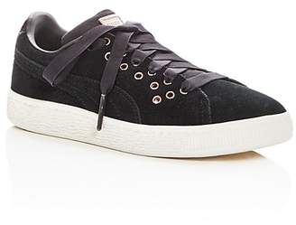 Puma Girls' XL Lace Suede Lace Up Sneakers - Little Kid