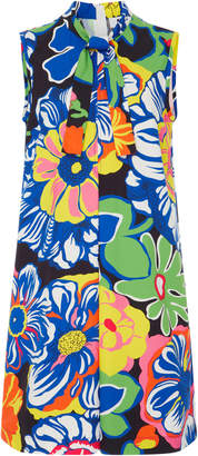 MSGM Sixties Mico Flower Pleated Cotton