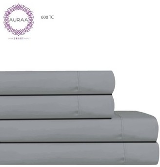 Auraa Smart 600 TC Cotton Rich 4 Pc Cal King Sheet Set