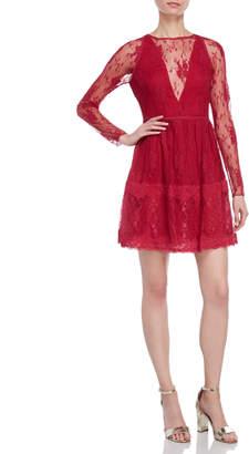 Monique Lhuillier Lace A-Line Dress