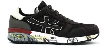Premiata Mick Sneaker In Black And Grey Suede Upper And Nylon.