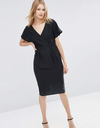 ASOS Wiggle Dress with V-Front and V-Back $64 thestylecure.com