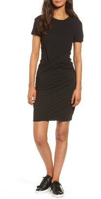 Women's James Perse Twisted Drape T-Shirt Dress $225 thestylecure.com
