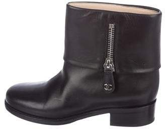 Chanel CC Cuff Ankle Boots