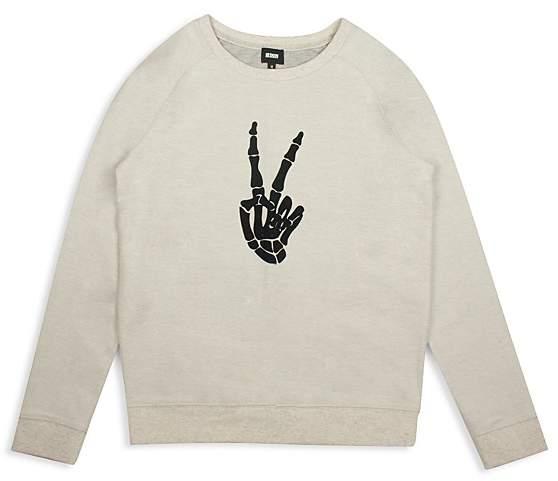 Boys' Skeleton Thumbs-Up Sweatshirt - Little Kid