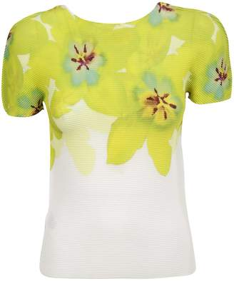 Issey Miyake Floral Printed Knitted T-shirt