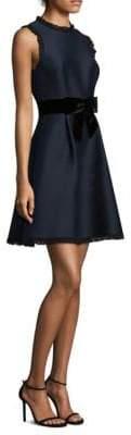 Kate Spade New York Velvet Bow Fit-&-Flare Dress