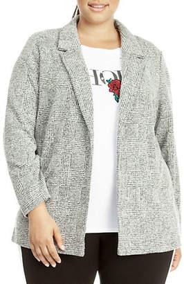 Dex Plus Open Front Knit Blazer