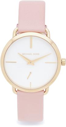Michael Kors Partia Leather Watch $195 thestylecure.com