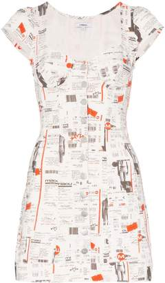 Miaou Gigi newspaper print dress