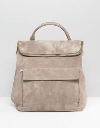 Whistles Suede Verity Backpack