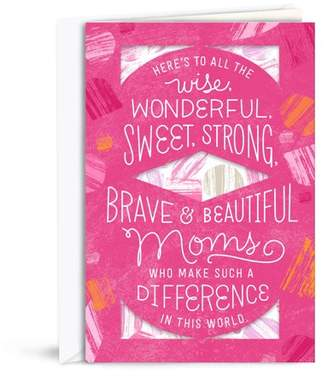 Hallmark Pink Abstract Benefiting Susan G. Komen and Breast Cancer Research, Mother's Day Greeting Card, with Scarf