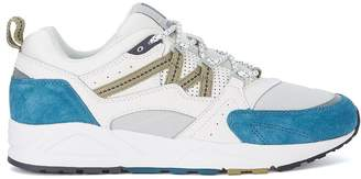 Karhu Fusion 2.0 White Leather And Nylon Sneaker With Light-blue Suede