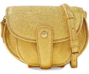 Jerome Dreyfuss Metallic Cracked-Leather Shoulder Bag