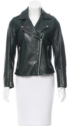 Sandro Leather Moto Jacket $395 thestylecure.com