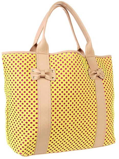 Betsey Johnson Scuba Gal Tote (Yellow) - Bags and Luggage