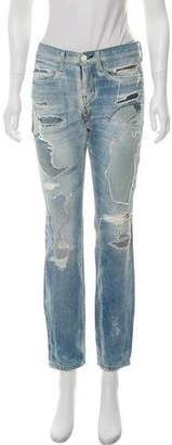 AYR Distressed Mid-Rise Jeans