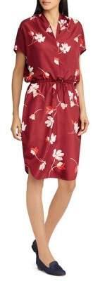 Lauren Ralph Lauren Petite Floral Drawstring Dress