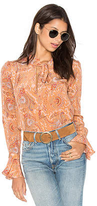 MAJORELLE Canyon Shirt in Peach $218 thestylecure.com