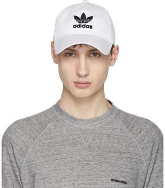 adidas White Trefoil Logo Cap