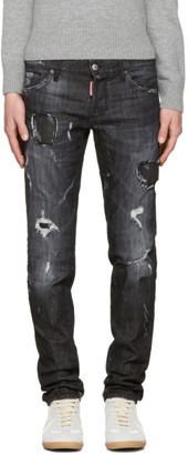 Dsquared2 Black Slim Jeans $650 thestylecure.com
