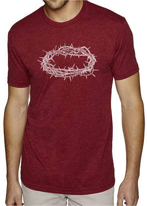 Blend of America LOS ANGELES POP ART Los Angeles Pop Art Men's Big & Tall Premium Word Art T-Shirt - Crown of Thorns