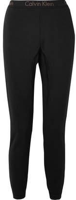 Calvin Klein Underwear Body Cotton-blend Jersey Track Pants - Black