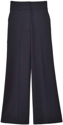 Proenza Schouler Wool Suiting Culotte Pant in Black