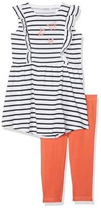 Name It Girl's Nmfvenus Set H Clothing (Bright White Detail: Packed with Emberglow Legging)