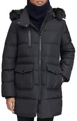 Andrew Marc Astoria Faux Fur Trim Anorak
