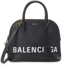 Balenciaga Ville Top Handle Logo Shoulder Bag