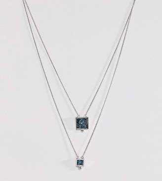 Asos Multirow Necklace with Recycled Denim Stones
