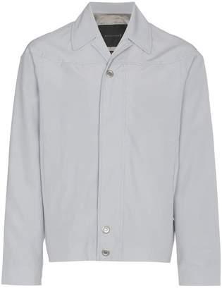 Mackintosh 0002 rubberised cotton wool-blend cropped jacket