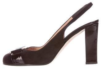 Kate Spade New York Suede Round-Toe Slingback Pumps