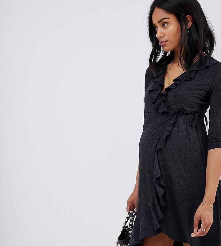 Mama.licious Mamalicious Ruffle Wrap Dress